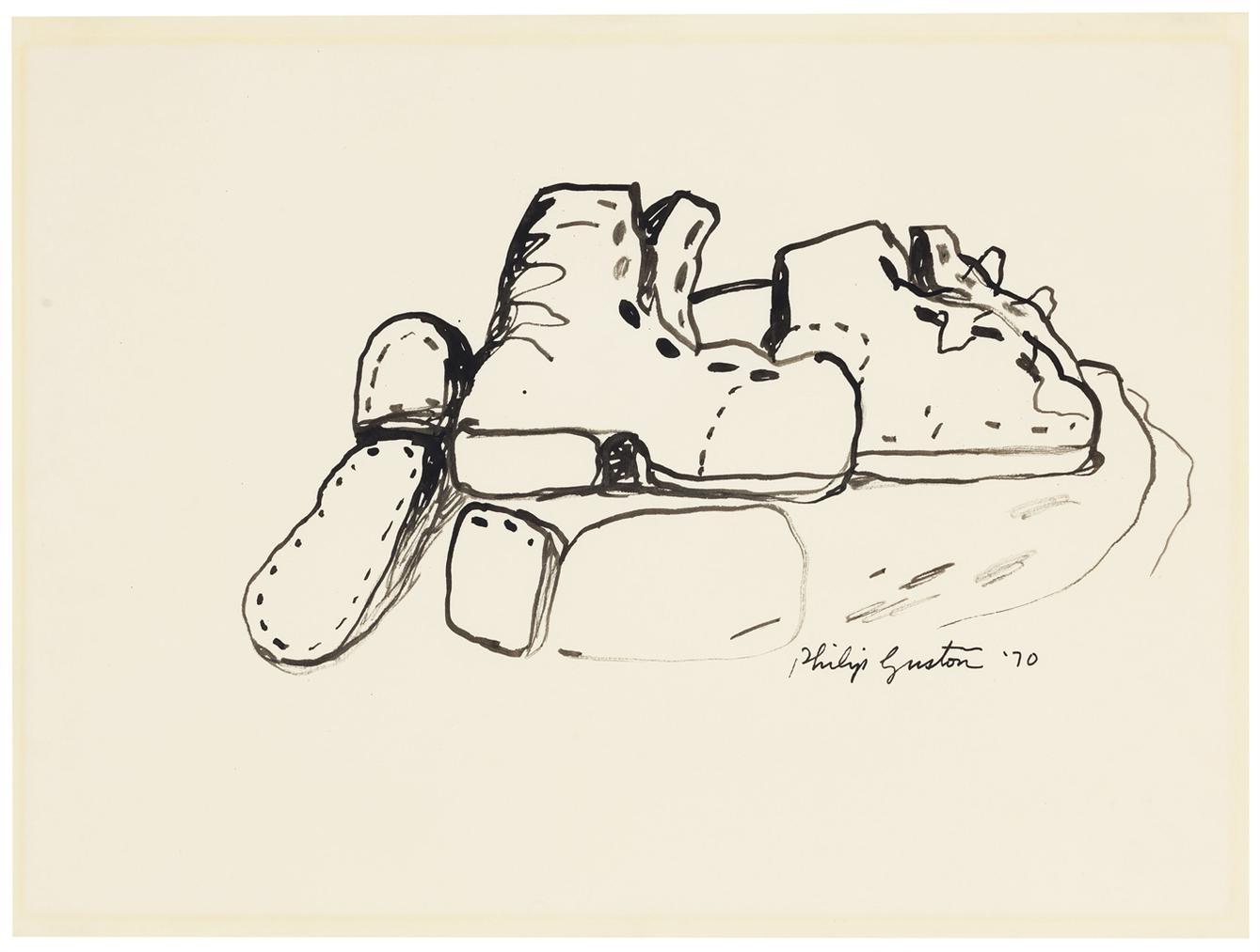 Philip Guston-Boots-1970