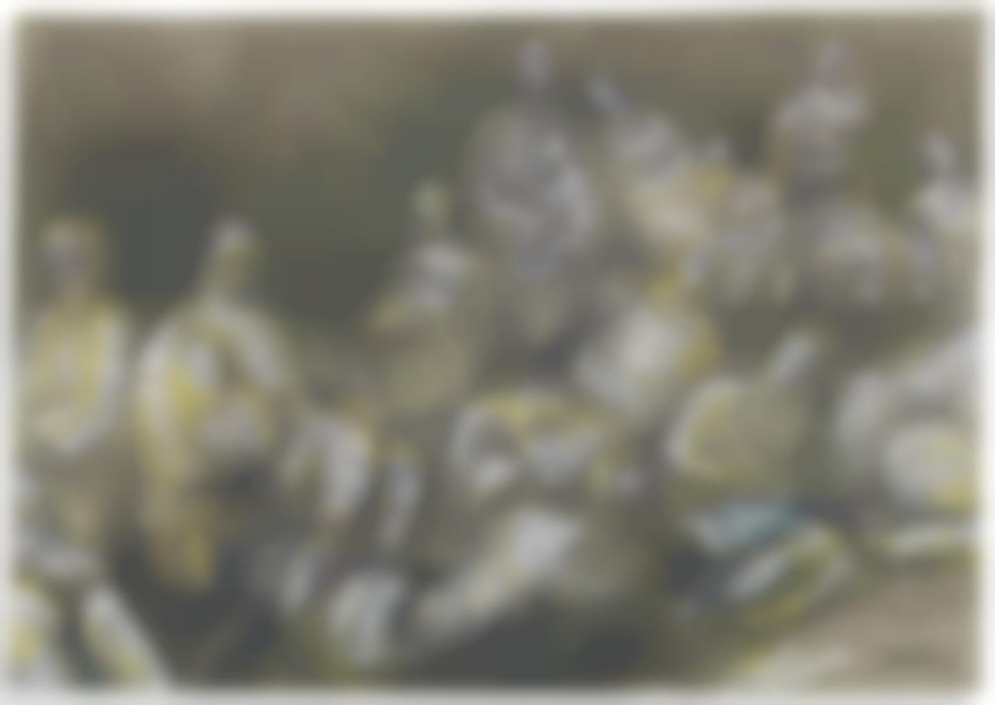 Henry Moore-Shelter Drawing: Underground Study-1940