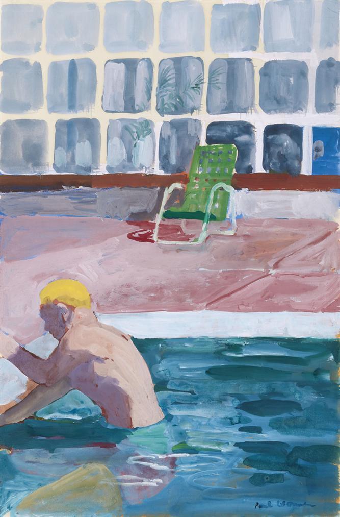 Paul Wonner-Swimmer, Pool, Green Chair-1967