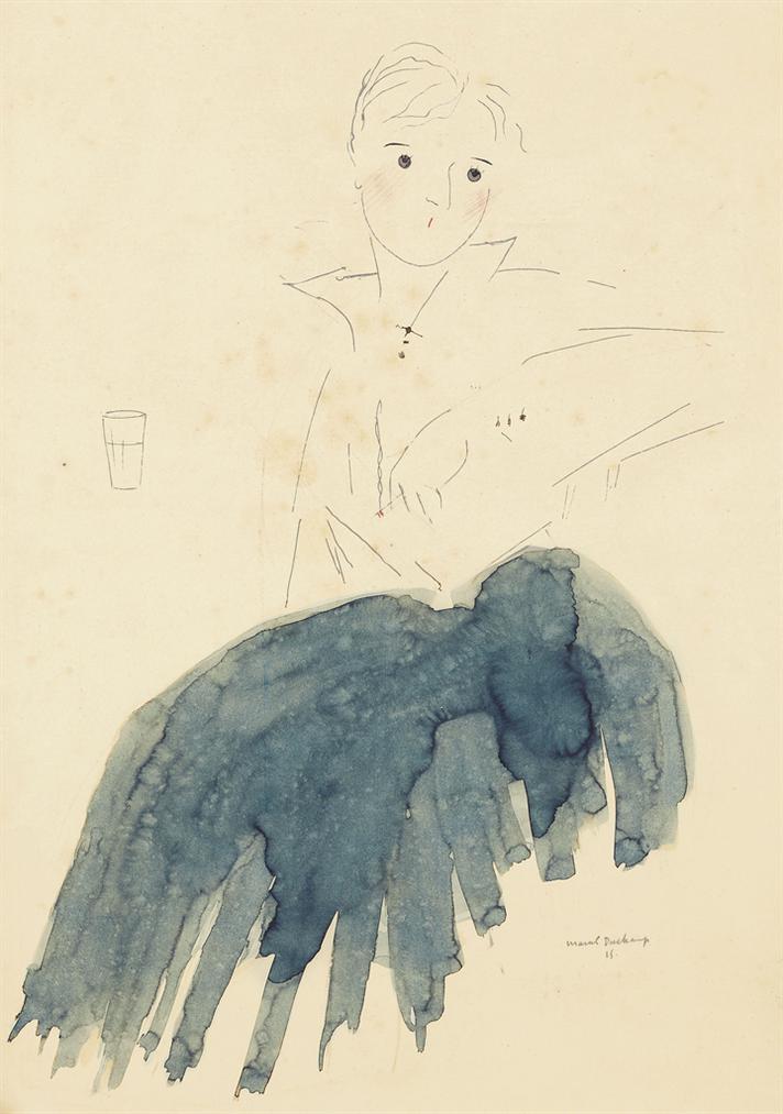 Marcel Duchamp-Portrait De Madame Marthe Hervieu-1915