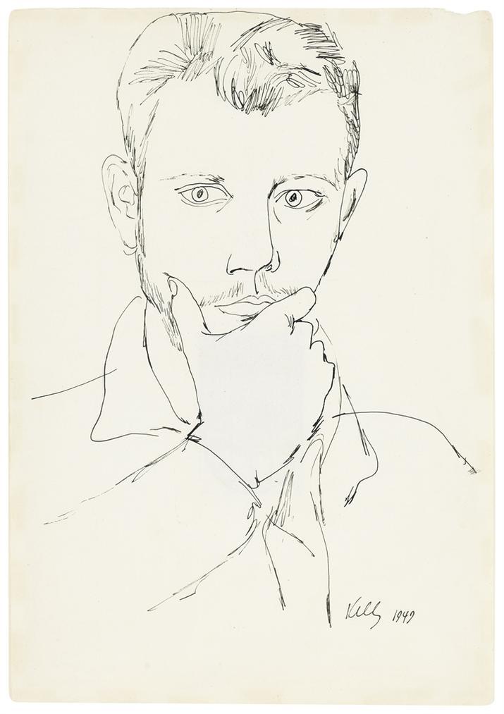 Ellsworth Kelly-Self-Portrait-1949