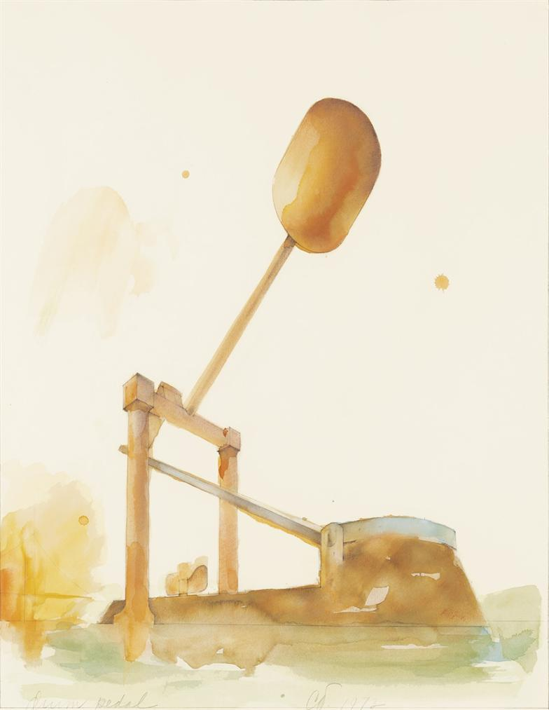 Claes Oldenburg-Proposed Monument For Alcatraz Island, San Francisco, In The Form Of A Colossal Drum Pedal #2-1973