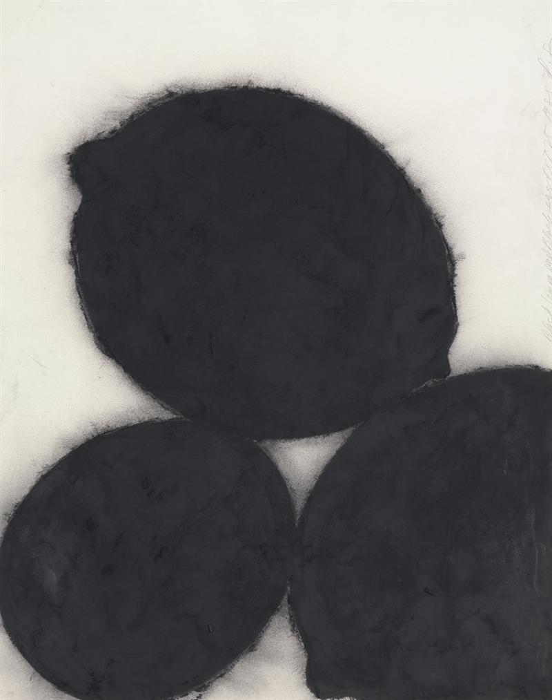 Donald Sultan-Black Lemons And Black Egg, October 25, 1985-1985