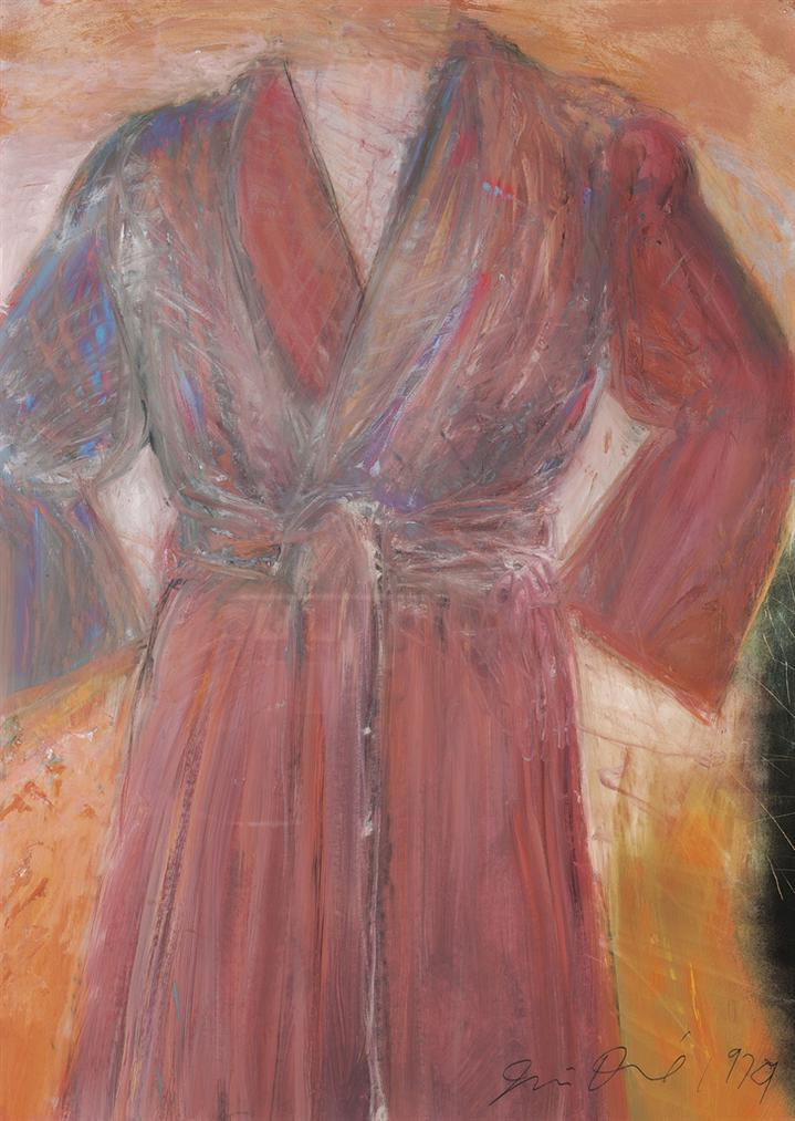 Jim Dine-Untitled (Robe) X-1979