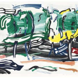 Roy Lichtenstein-Road Before The Forest, From Landscapes-1985