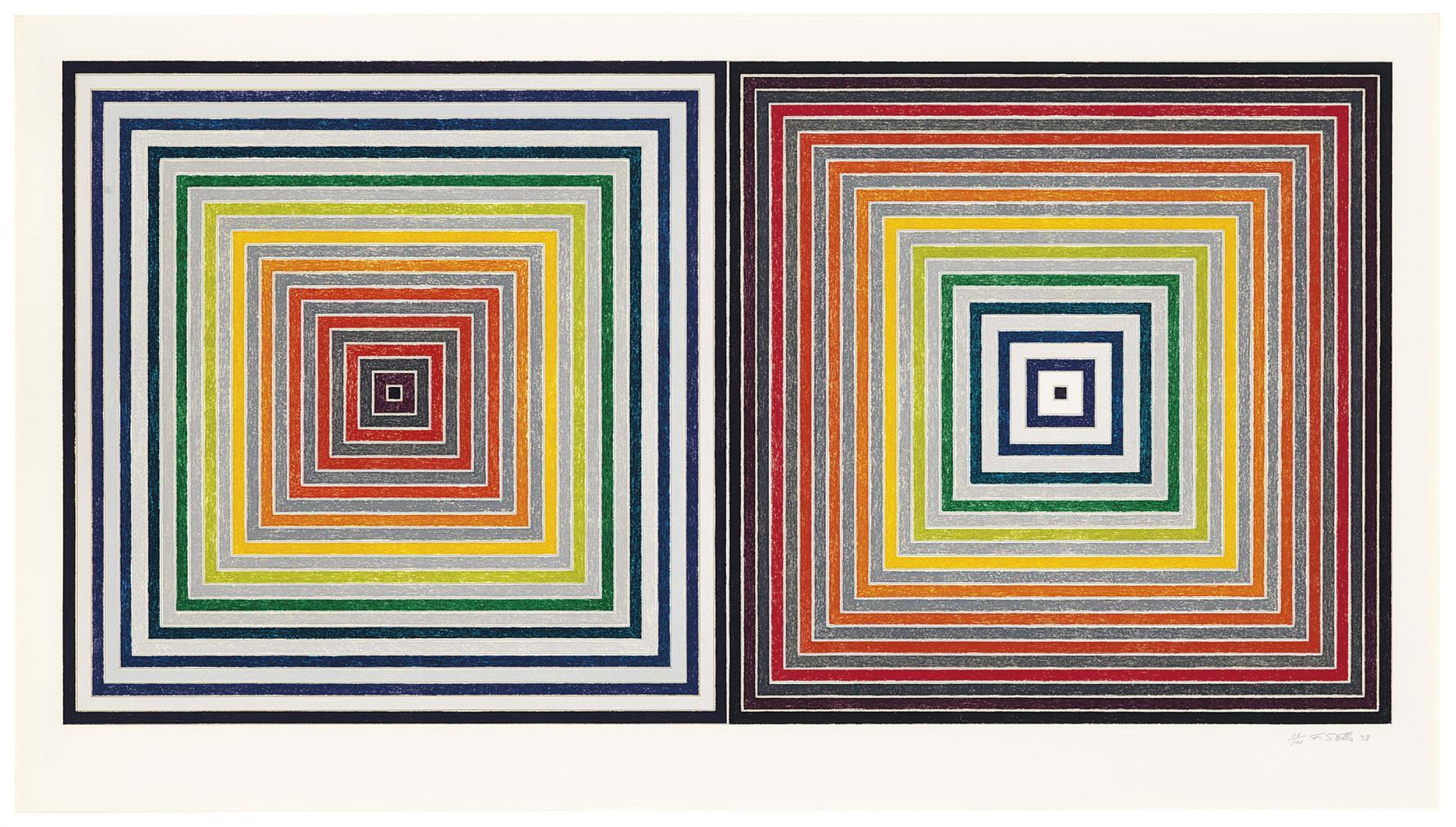 Frank Stella-Double Gray Scramble-1973