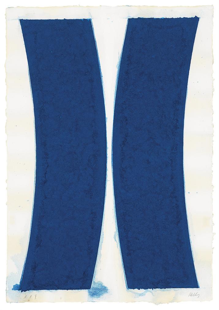 Ellsworth Kelly-Colored Paper Image V (Blue Curves)-1976