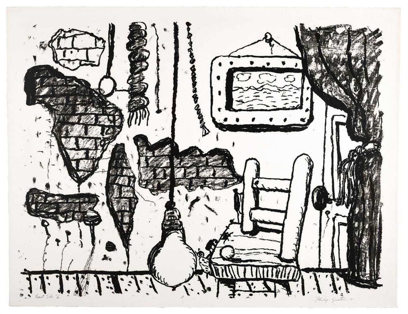 Philip Guston-East Side-1980