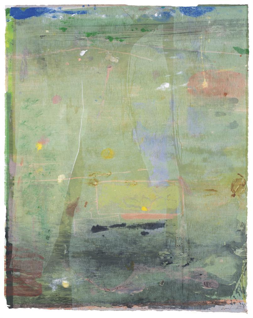Helen Frankenthaler-Monoprint VII, From The Monoprint, Monotype Series-1981
