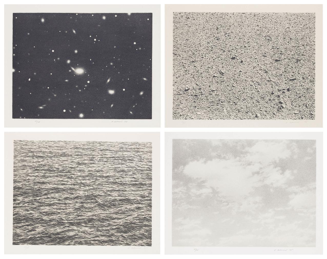Vija Celmins-Untitled Porfolio-1975