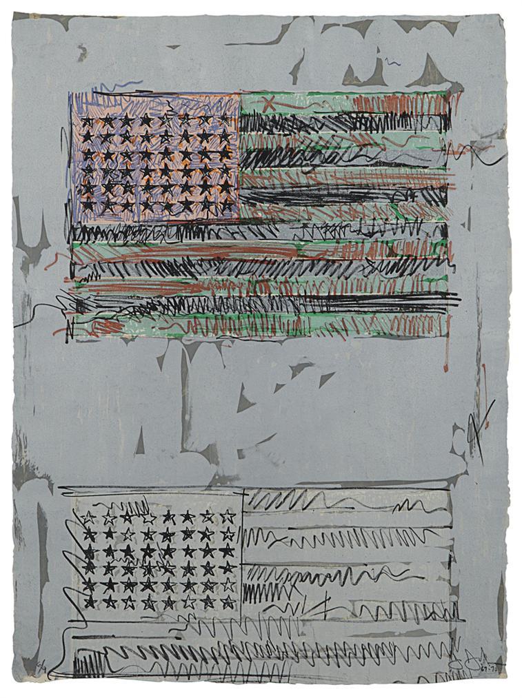 Jasper Johns-Flags II-1970