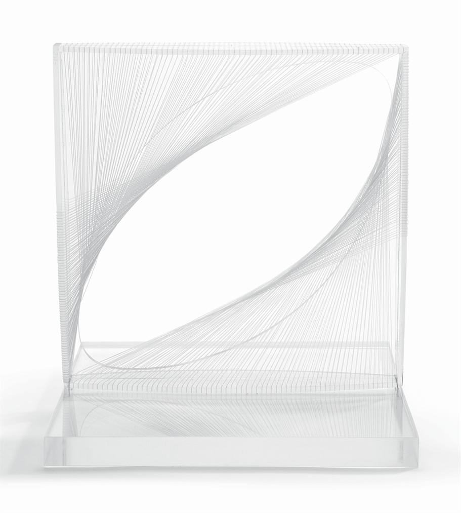 Naum Gabo-Linear Construction In Space No. 1-1965