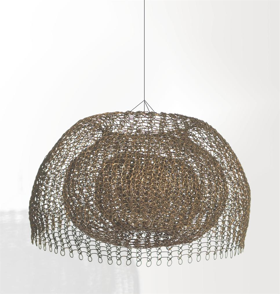Ruth Asawa-Untitled (S.724, Hanging, Single-Lobed, Four-Layer Continuous Form Within A Form, With The Outer Layer Open)-1980