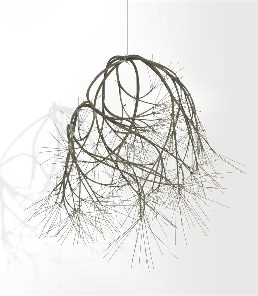 Ruth Asawa-Untitled (S.330, Hanging Asymmetrical Tied-Wire Eight- Branched, Closed Center, Free-Form Based On Nature)-1965