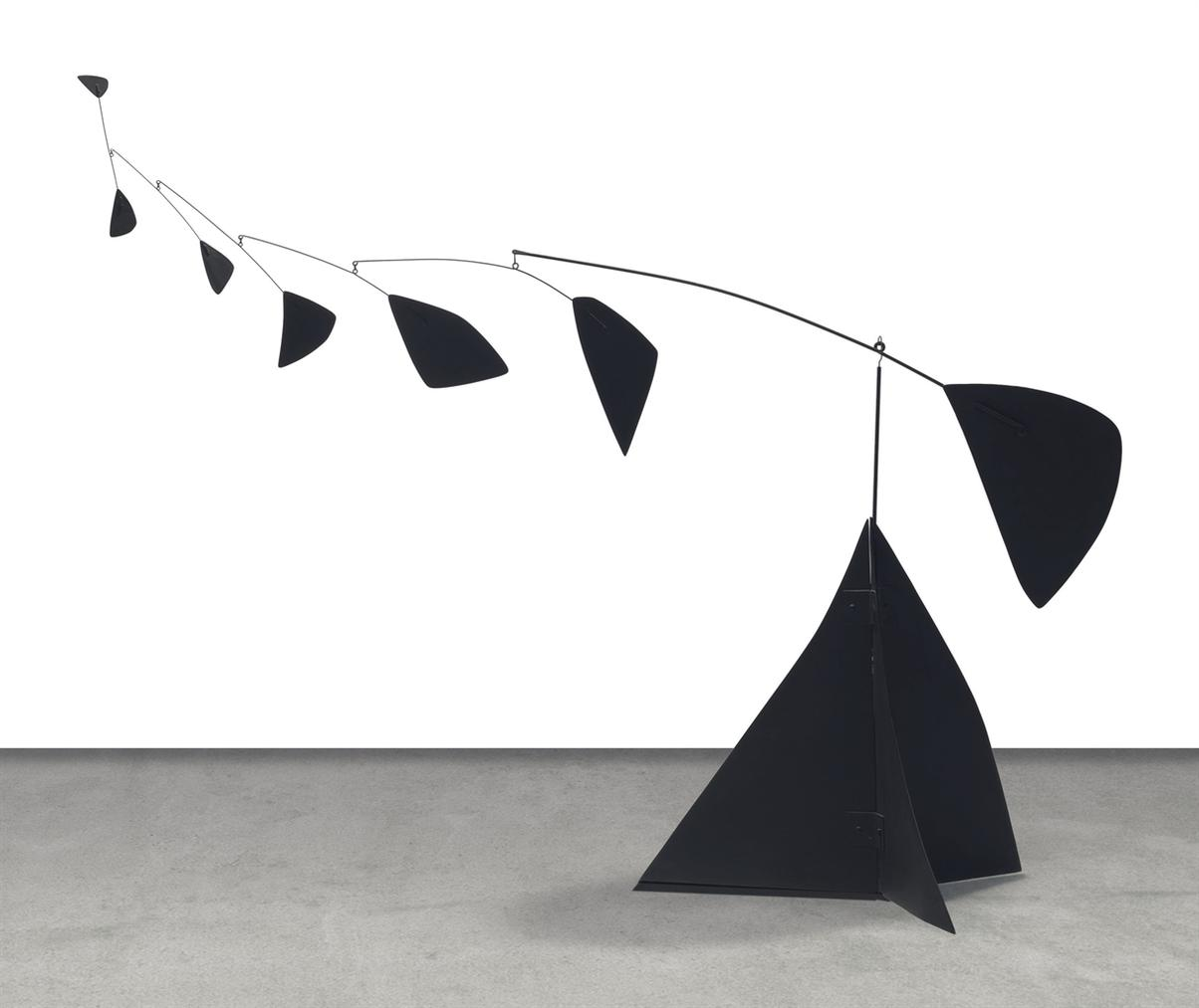 Alexander Calder-Black Pyramid And Seven-1956
