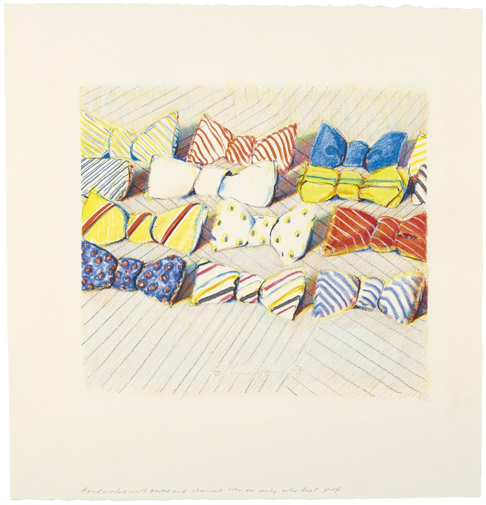 Wayne Thiebaud-Untitled (Bow Ties)-1990