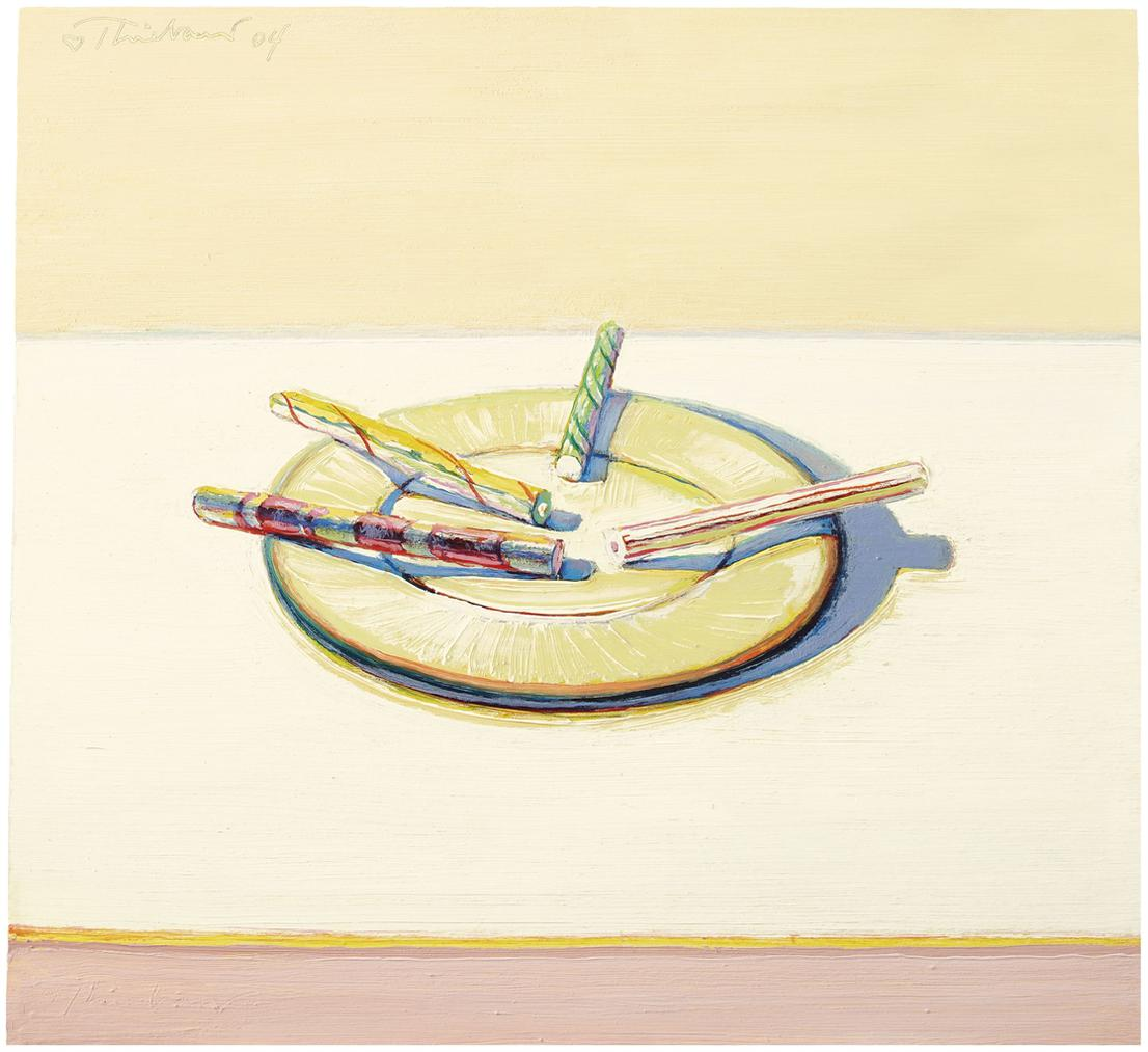Wayne Thiebaud-Four Candy Sticks-2004