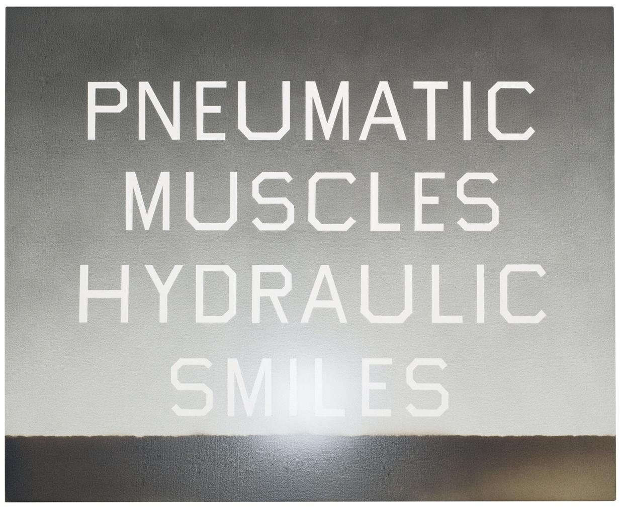 Ed Ruscha-Pneumatic Muscles, Hydraulic Smiles-2010
