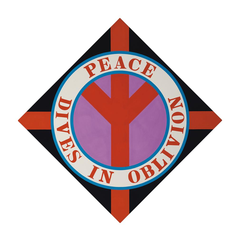 Robert Indiana-Peace Dives In Oblivion-2003