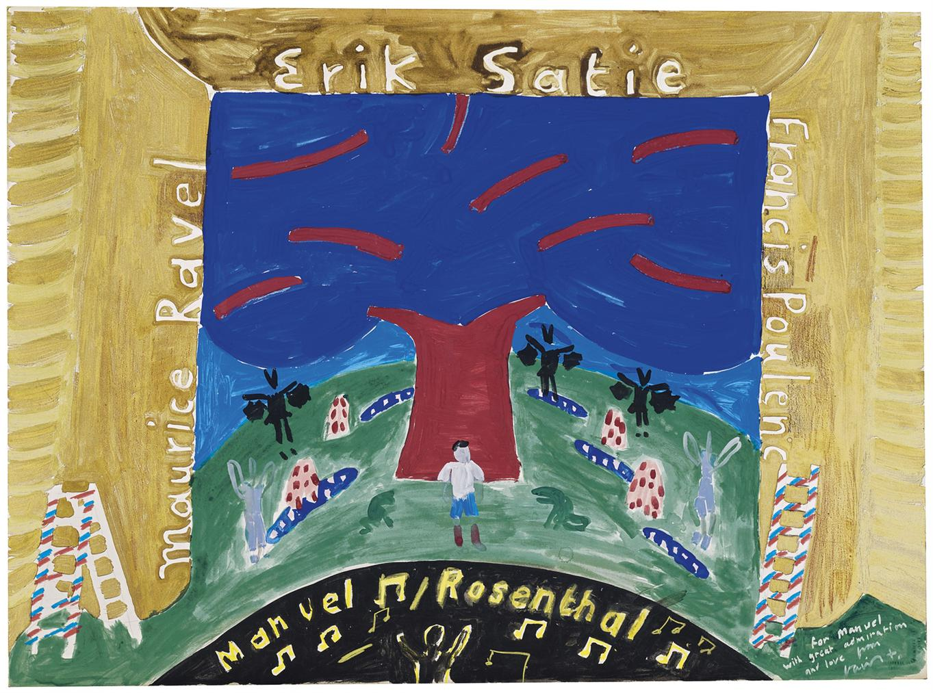 David Hockney-Ravels Garden On Stage For Manuel Rosenthal From 'Parade Triple Bill-1980