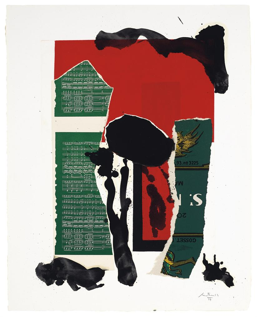 Robert Motherwell-The Red And Black No. 46-1988