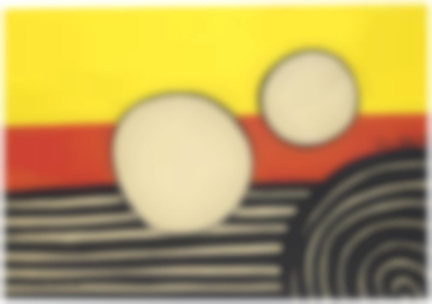 Alexander Calder-Floating White Orbs-1975