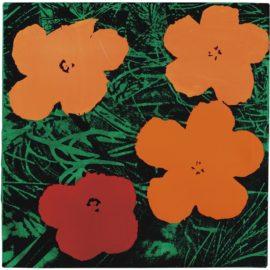 Elaine Sturtevant-Study For Warhol Flowers-1969