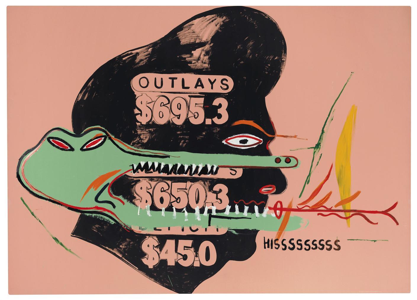 Andy Warhol & Jean-Michel Basquiat - Outlays Hisssssssss (Collaboration #22)-1985
