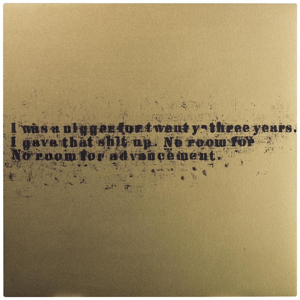 Glenn Ligon-No Room (Gold) #6-2007