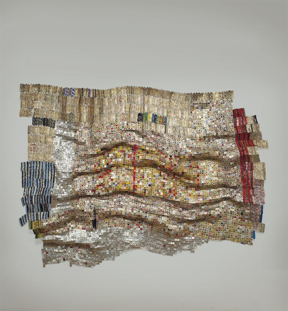 El Anatsui-Recycled Dreams (Uniting The World With A Stitch)-2005