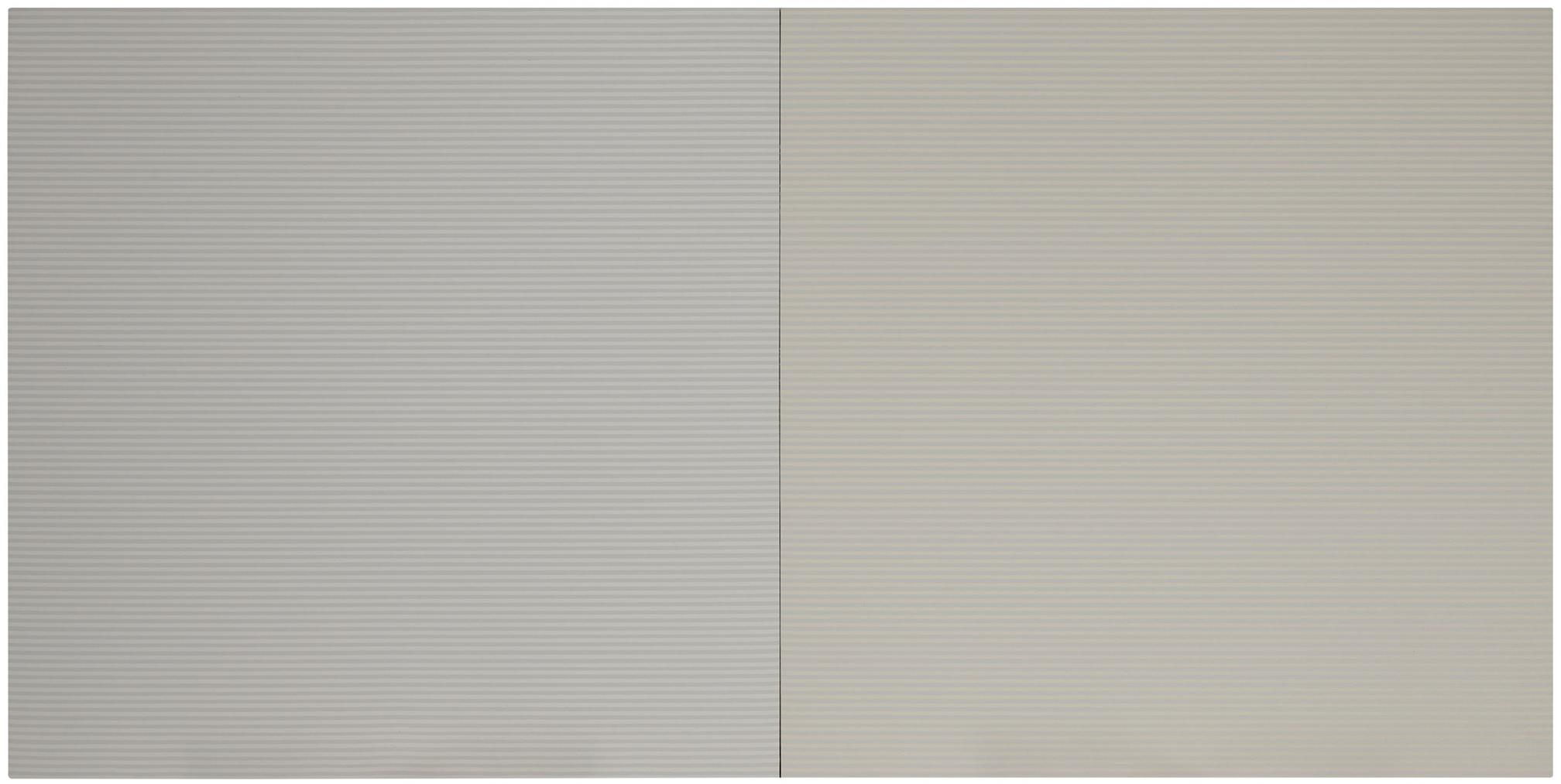 Sean Scully-Horizontals: Grey Diptych #1-1976