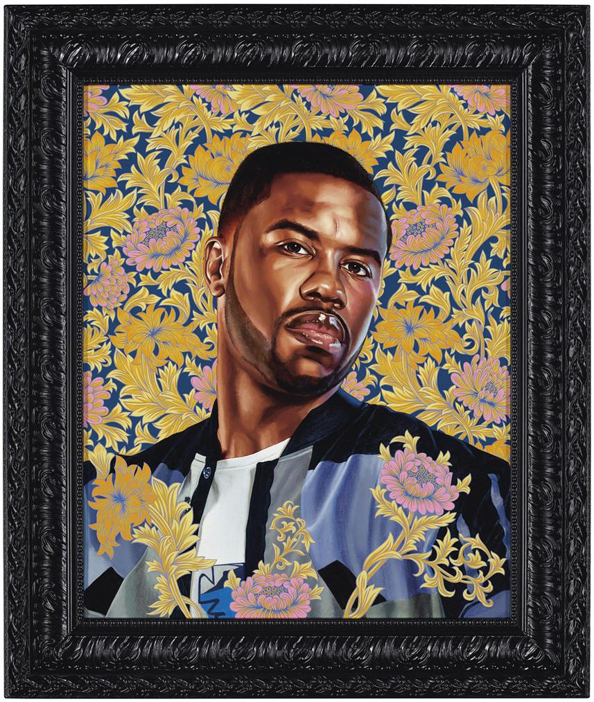 Kehinde Wiley-Portrait Of Quentin Lee Moore-2017