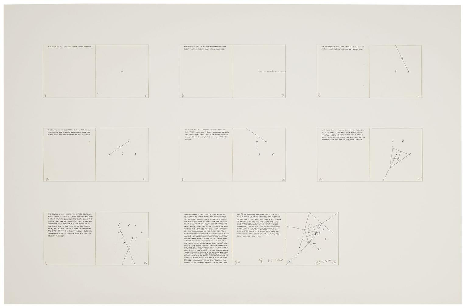 Sol LeWitt-Working Drawings For Book, Location Of Eight Points-1974