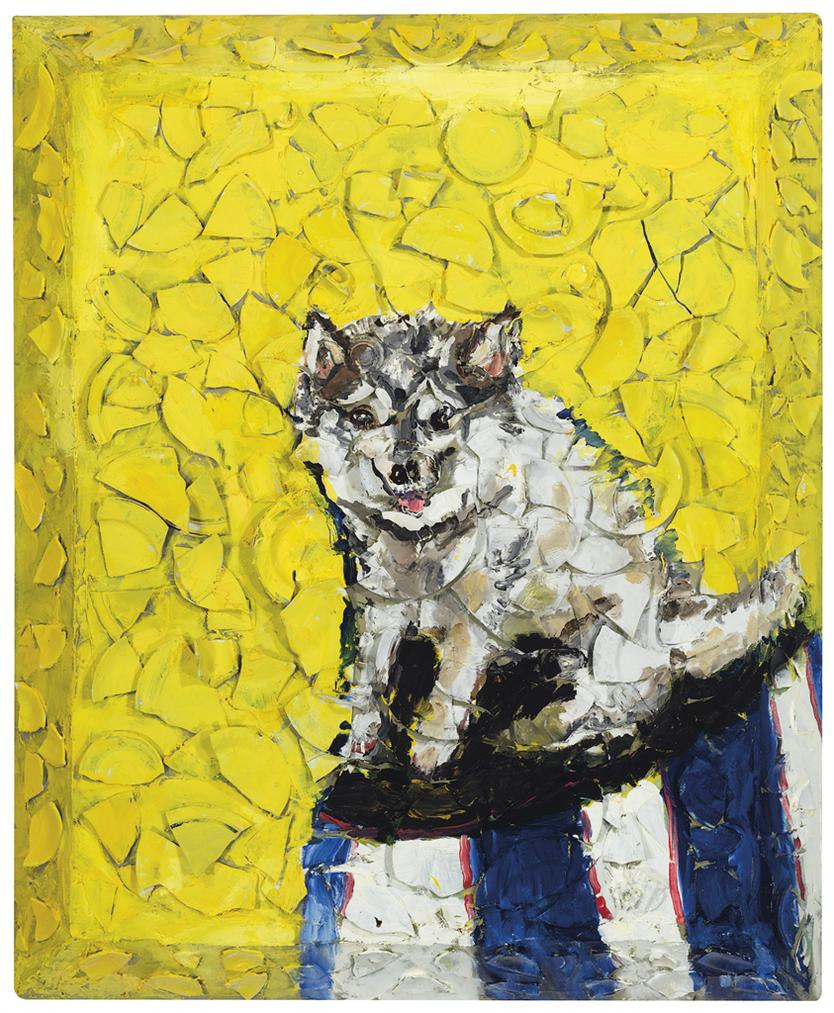 Julian Schnabel-Untitled (Portrait Of Kai)-2014
