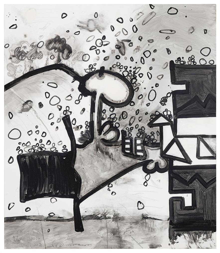 Carroll Dunham-Meso-Kingdom Ten (Collecting Dust)-2002