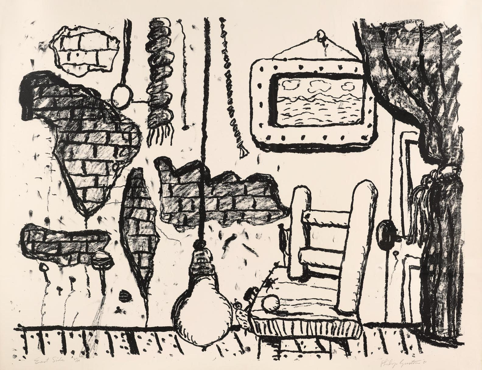 Philip Guston-East Side (S. 23, G. 872)-1980