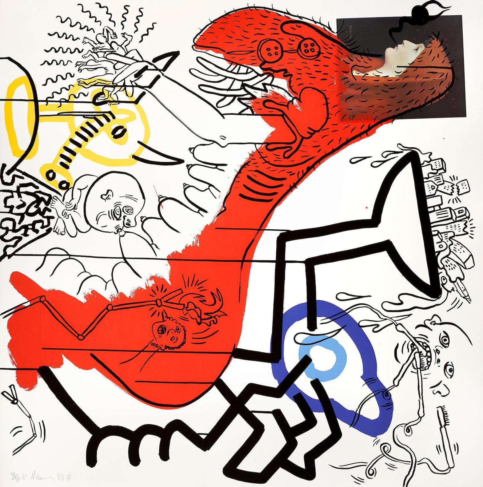 Keith Haring-Apocalypse #4 (L. P.102)-1988