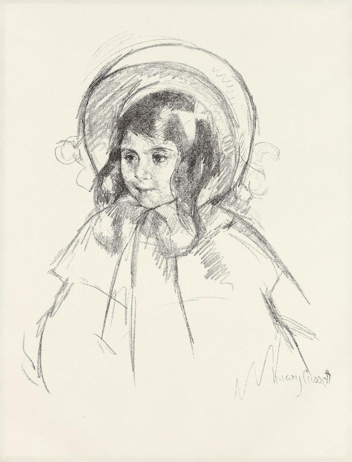Mary Cassatt-Sarah Wearing Her Bonnet And Coat (B. 198)-1904