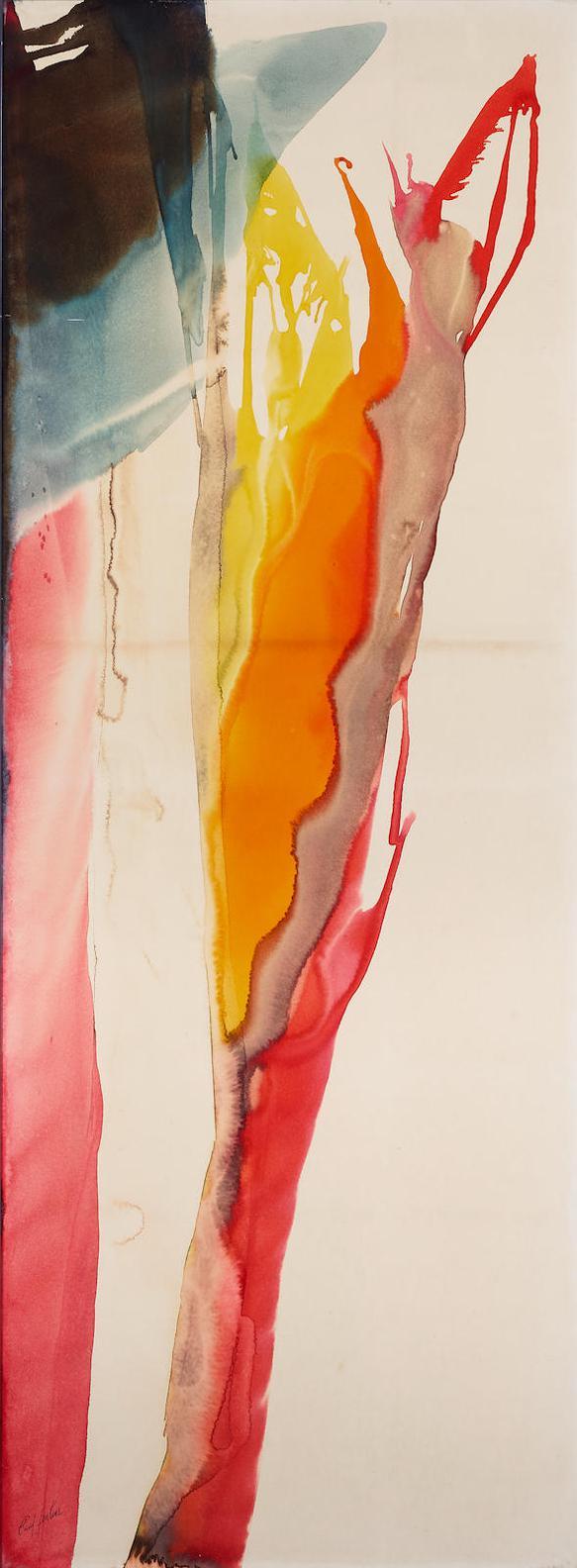 Paul Jenkins-Phenomena Cardinal Footsteps-1972