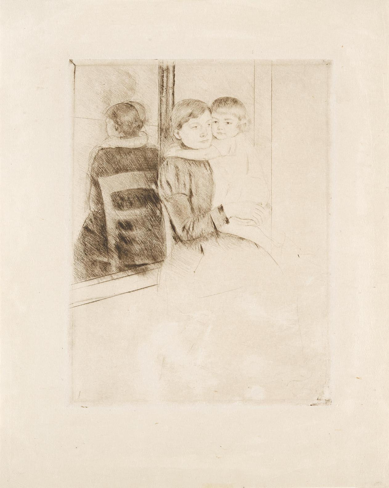 Mary Cassatt-The Mirror (B. 136 V/VII)-1891