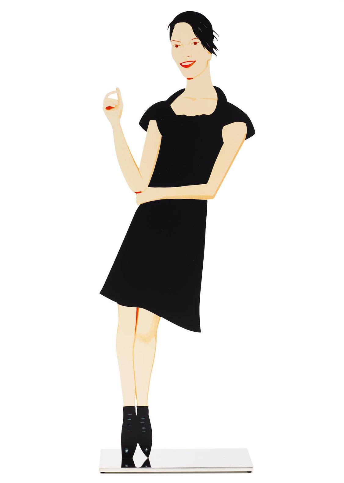 Alex Katz-Black Dress 7 (Carmen)-2018