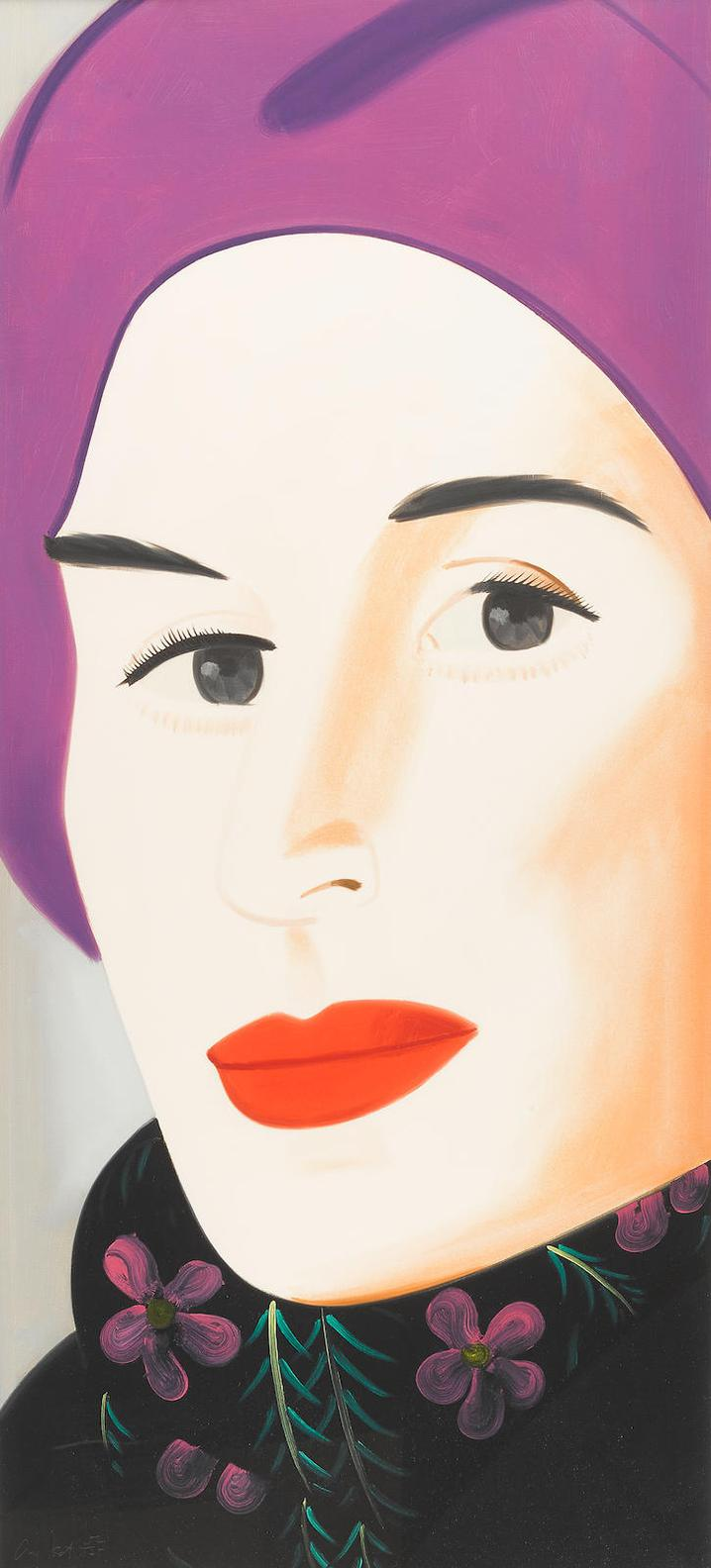 Alex Katz-Purple Hat (Ada)-2017