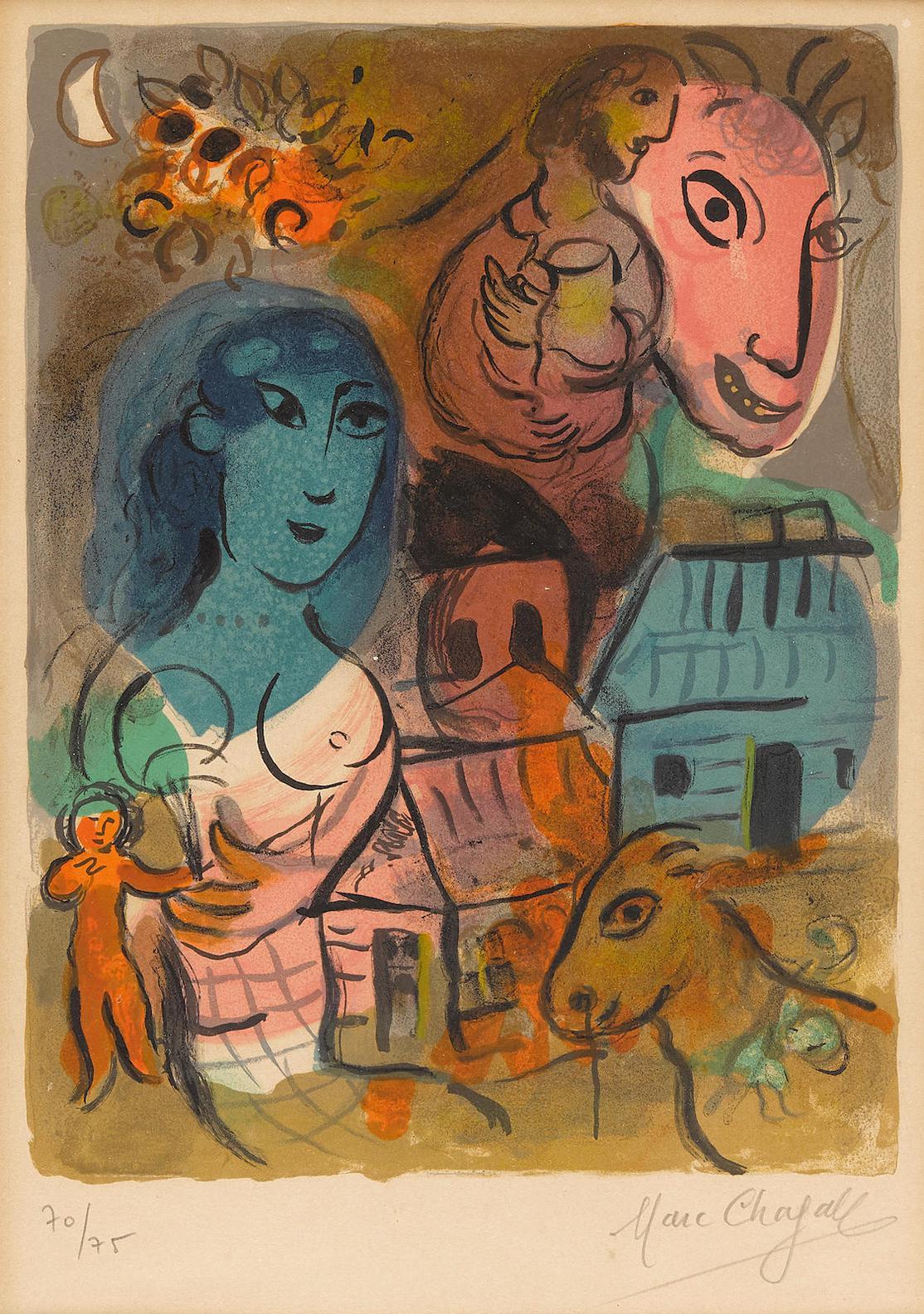 Marc Chagall-Xxe Siecle- Hommage A Marc Chagall (M. 572)-1969