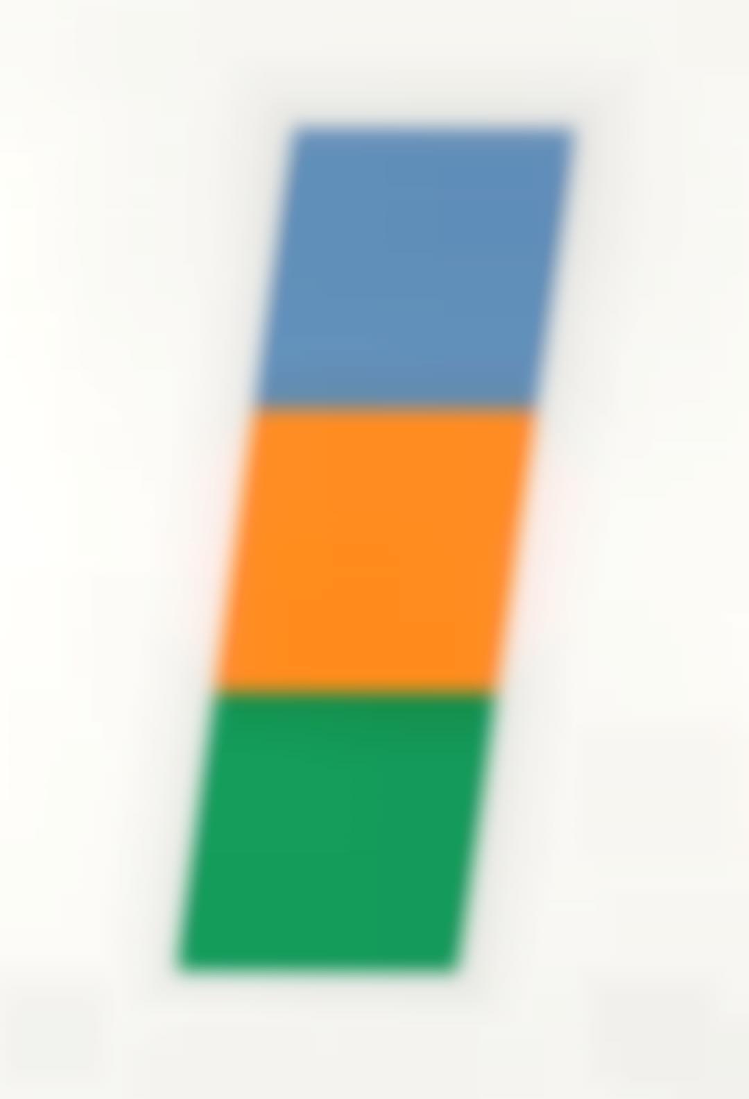 Ellsworth Kelly-Blue/Red-Orange/Green (A. 75)-1971