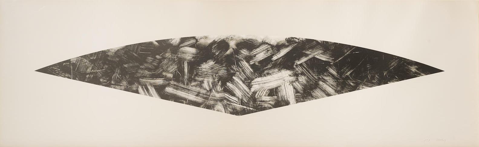 Ellsworth Kelly-Dark Gray Curve (State I) (A. 226; G. 1357)-1988