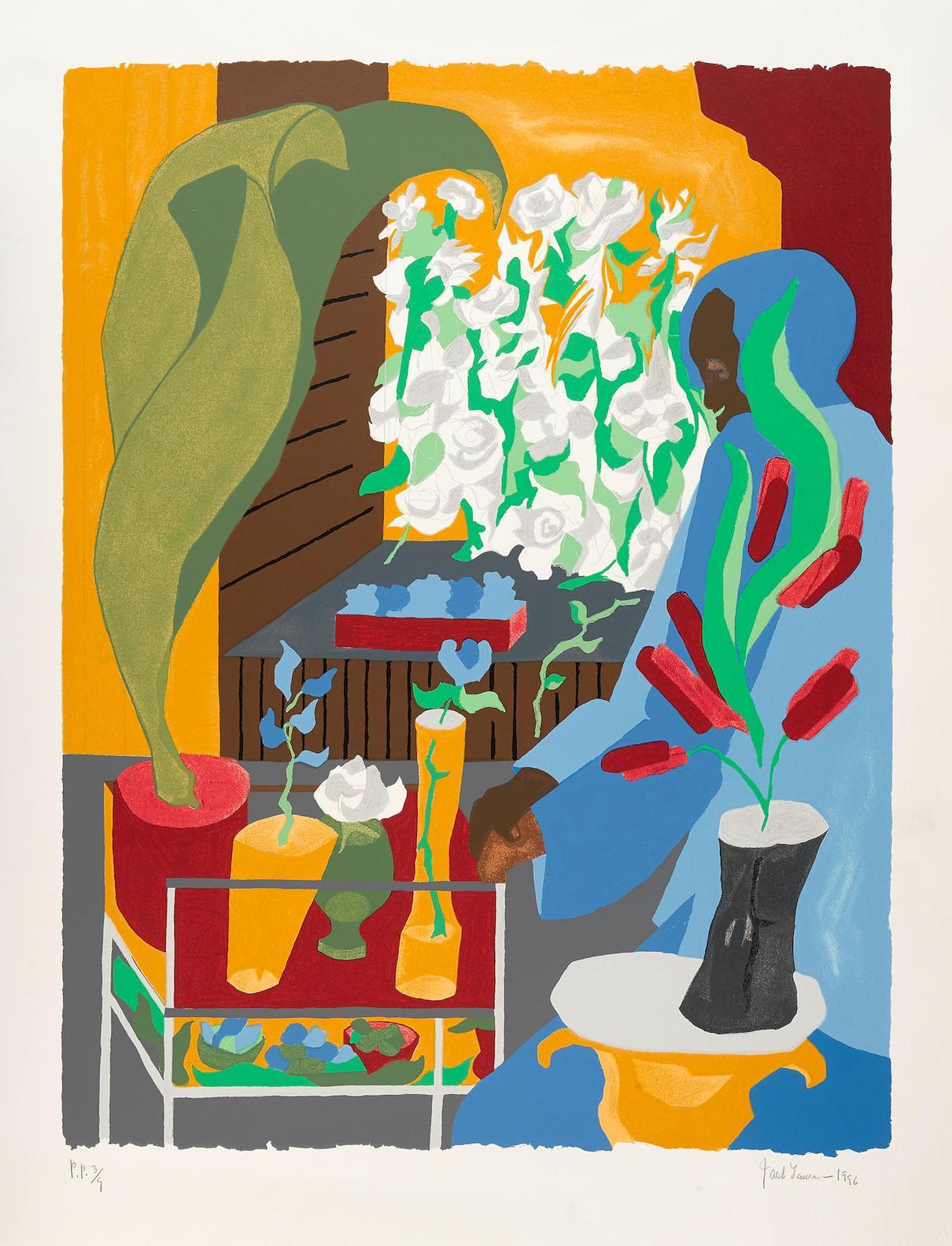 Jacob Lawrence-Supermarket Flora (N. L96-1)-1996
