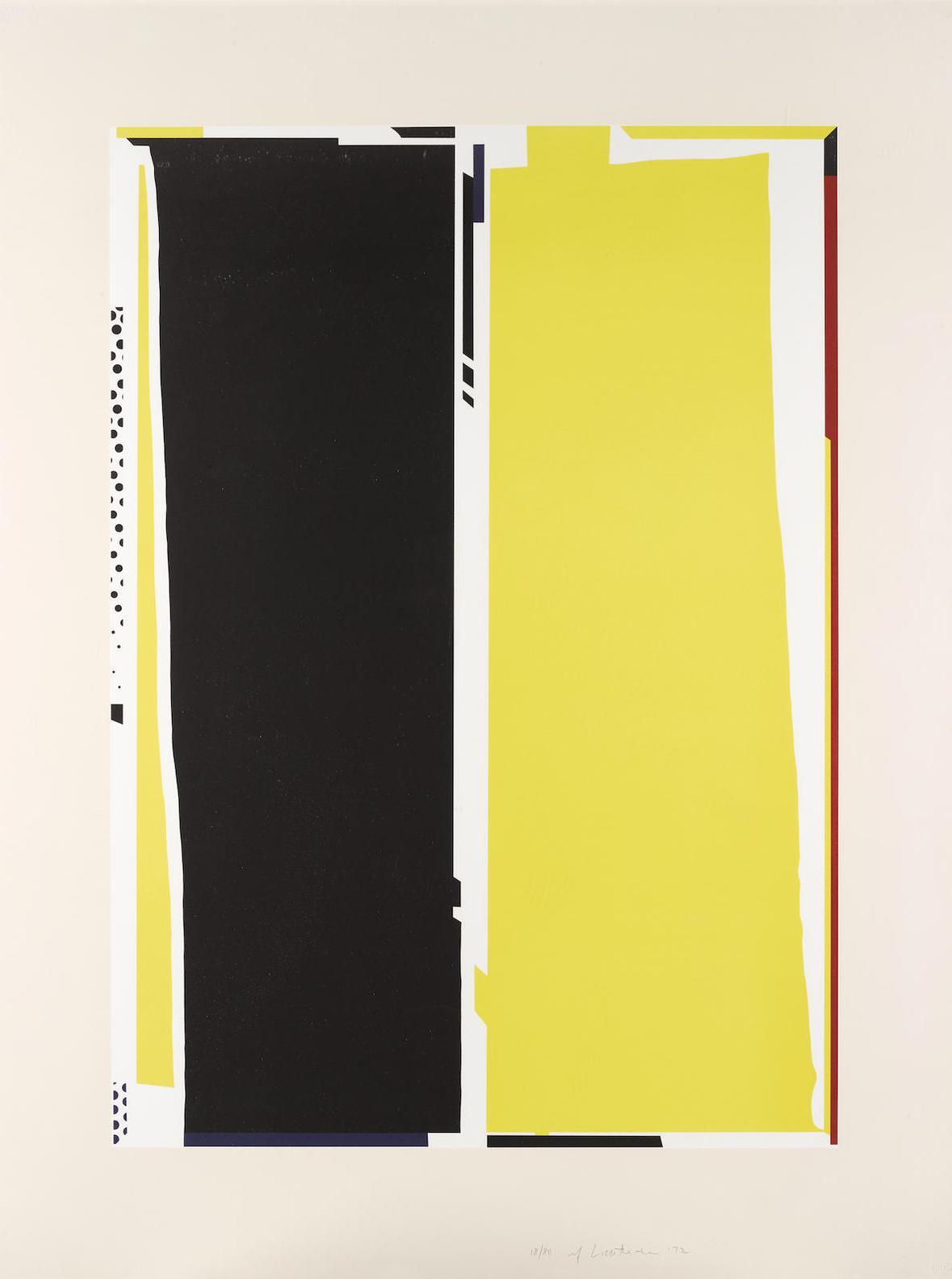 Roy Lichtenstein-Mirror #5, From The Mirror Series (C. 110)-1972
