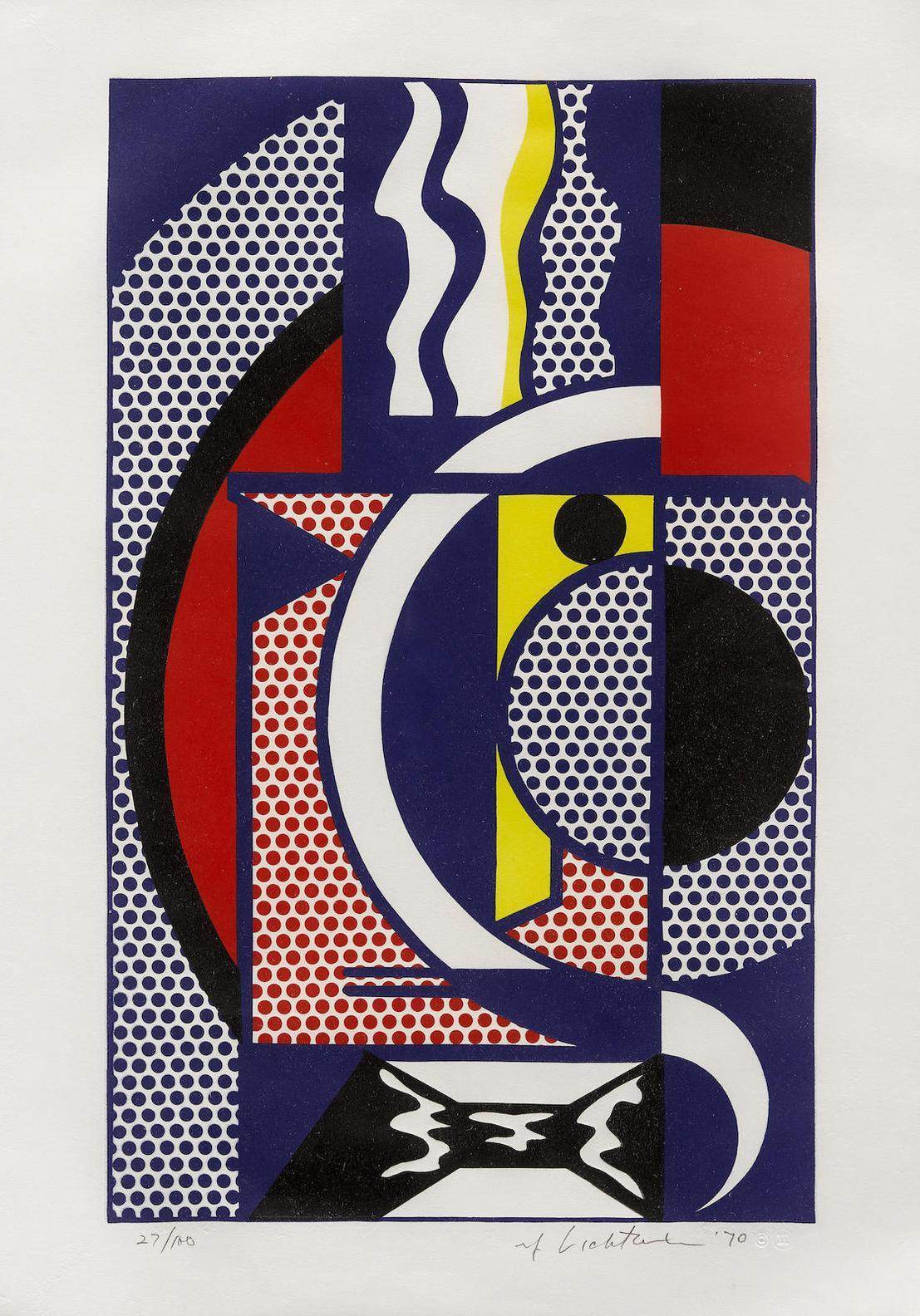 Roy Lichtenstein-Modern Head #1, From The Modern Head Series (C. 91)-1970