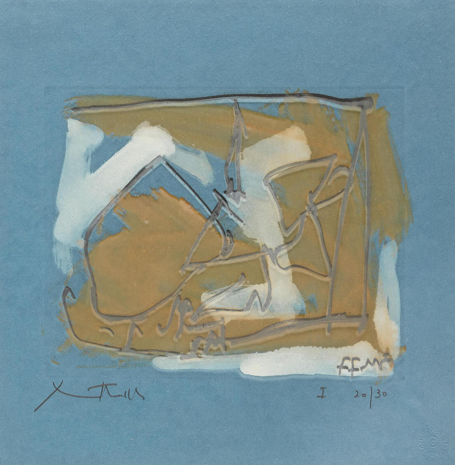 Robert Motherwell-Untitled (State I) (B. 181, E.&B.; 325)-1984