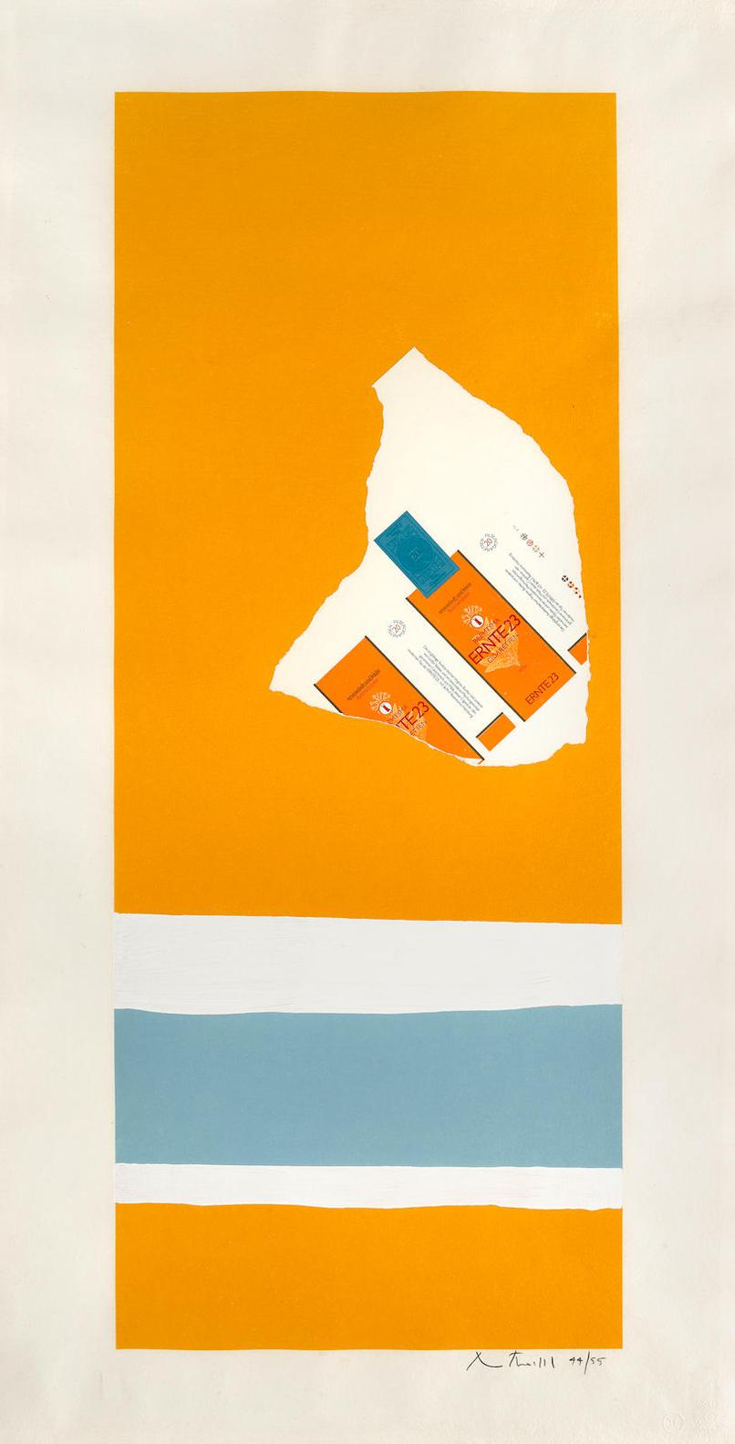 Robert Motherwell-Harvest, With Two White Stripes (B. 126; E.&B.; 142)-1973